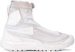 panelled high top sneakers - White