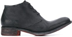 leather lace-up boots - Black
