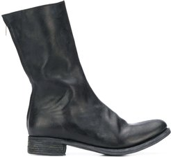 zipped boots - Black