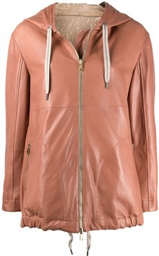mid-length hooded parka - PINK