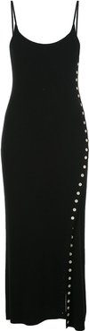 fitted midi knitted dress - Black