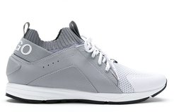 ribbed ankle low-top sneakers - Grey