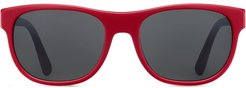 square-frame sunglasses - Red