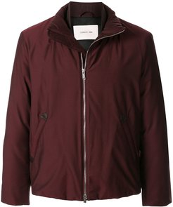 padded high-neck jacket - Red