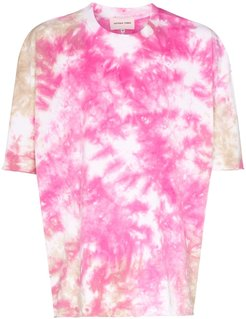 Duo tie-dyed cotton T-shirt - PINK