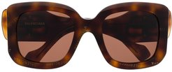 Paris D-frame sunglasses - Brown