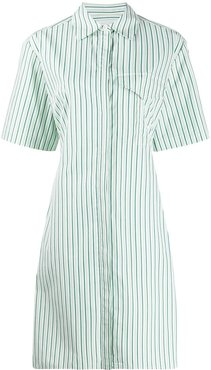 striped shirt dress - Green
