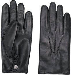 007 leather & cashmere lined gloves - Black