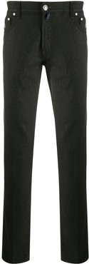 knitted skinny trousers - Green