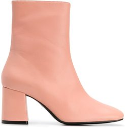block heel ankle boots - PINK