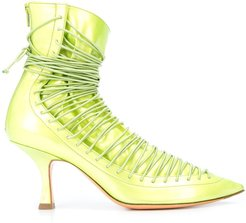 lace up pumps - Green