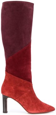 Clody colour block boots - Red