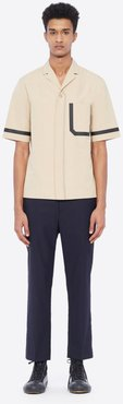 Short Sleeve Shirt With Notched Lapels