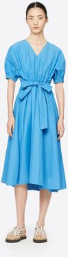 Utility Belted Dress with Gathered Sleeves