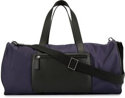 motif embroidery gym bag - PURPLE