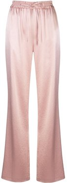 high-rise wide leg trousers - PINK