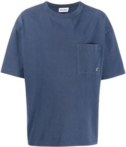 pocket detail T-shirt - Blue