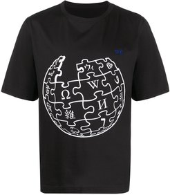 Unity Sphere Wikipedia graphic-print T-shirt - Black