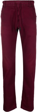 Krooley mid-rise slim-fit trousers - Red