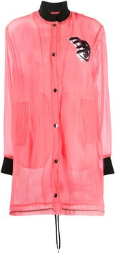 technical bomber jacket - PINK
