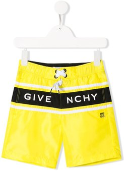 logo drawstring swim shorts - Yellow