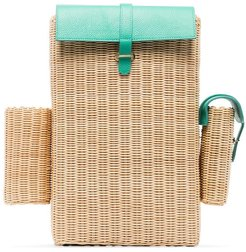 woven straw backpack - Neutrals