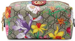 Ophidia GG Flora cosmetic case - Neutrals