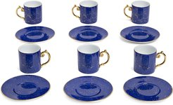 Lapis espresso cups and saucers (set of 6) - Blue