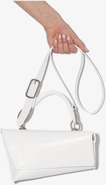 white VX leather shoulder bag