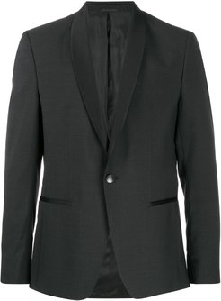 satin-trimmed blazer - Black
