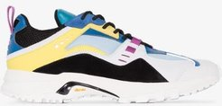 multicoloured cross leather sneakers