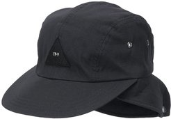 neck-cover cap - Black