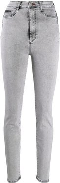 high-rise skinny jeans - Grey