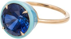 14kt gold Cocktail sapphire ring - YELLOW GOLD
