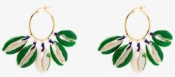 gold-plated palm tree shell earrings