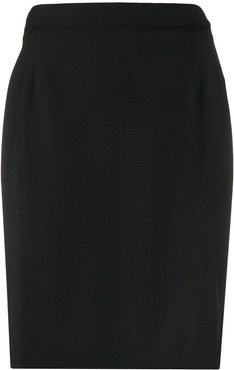 slim-fit pencil skirt - Black