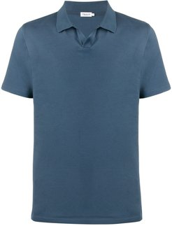 solid-color polo shirt - Blue