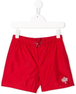 logo print swimming shorts - Red