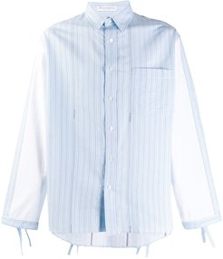 striped contrast-sleeve shirt - Blue