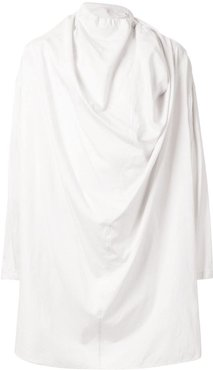 draped shirt - White