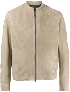 long sleeve zipped jacket - Neutrals