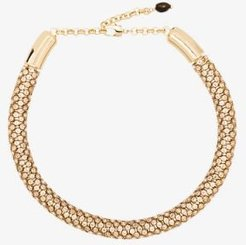 gold tone Denise Cup Chain crystal necklace