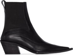 pointed 50 ankle boots - Black