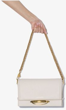 White The Story leather shoulder bag