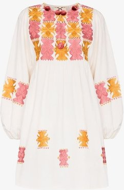 Lucie embroidered cotton mini dress