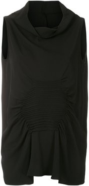 Cannes sleeveless blouse - Black