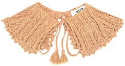 knitted ruff scarf - Brown