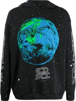 Ecosexual World print hoodie - Black