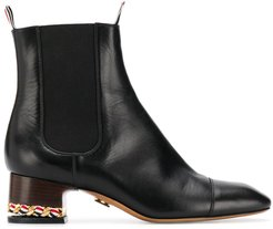 zipped ankle boots - Blue
