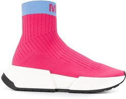 Sock colour block sneakers - PINK